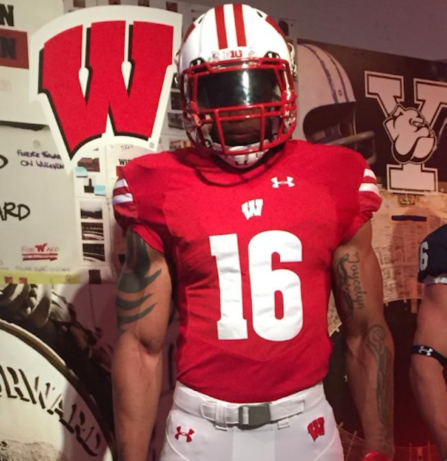 PHOTOS  Wisconsin unveils new Under Armour uniforms a79c8459f