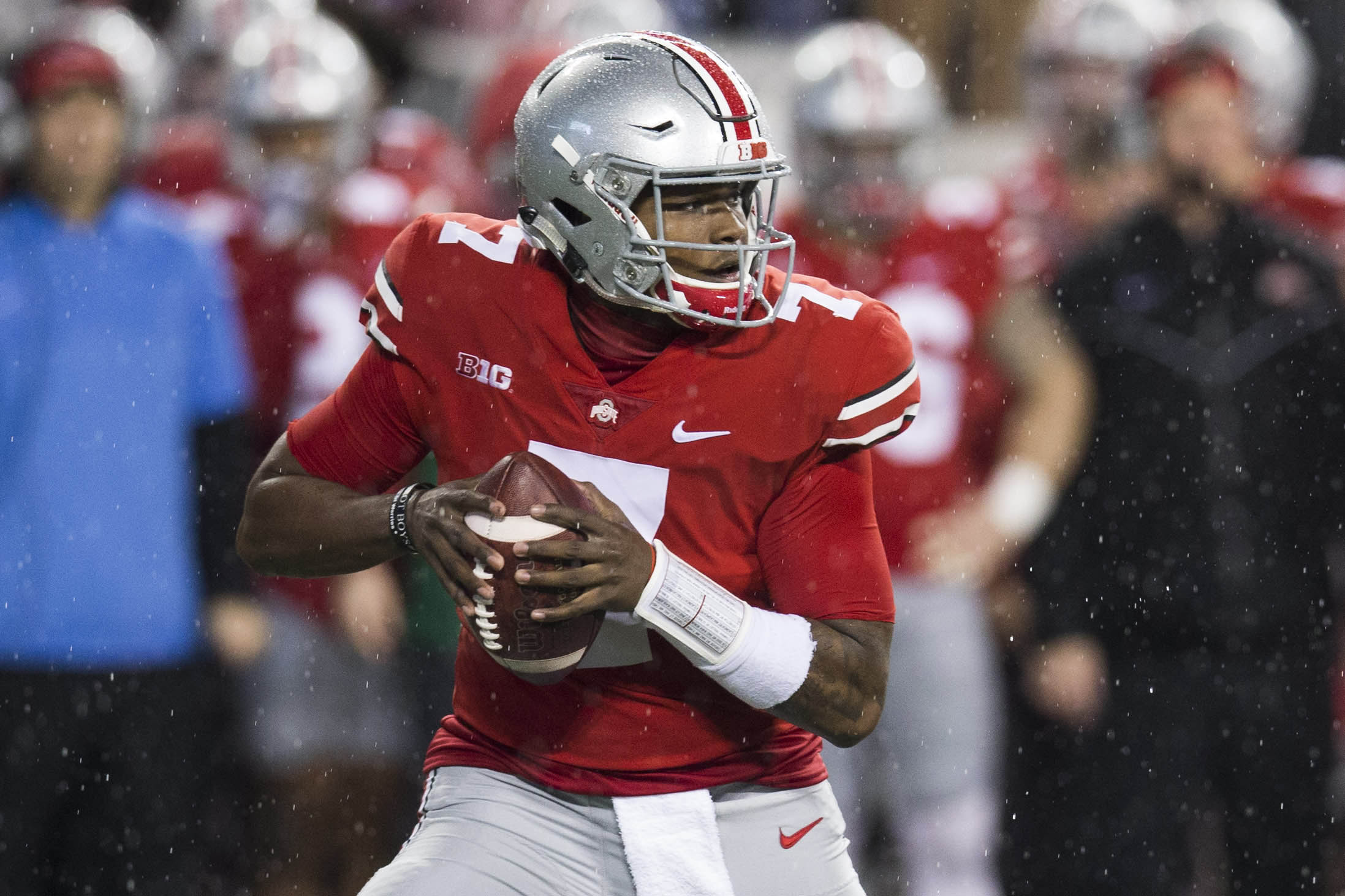 reputable site 27fa5 8afd2 Dwayne Haskins claps back at Shareef Miller after 'folding ...