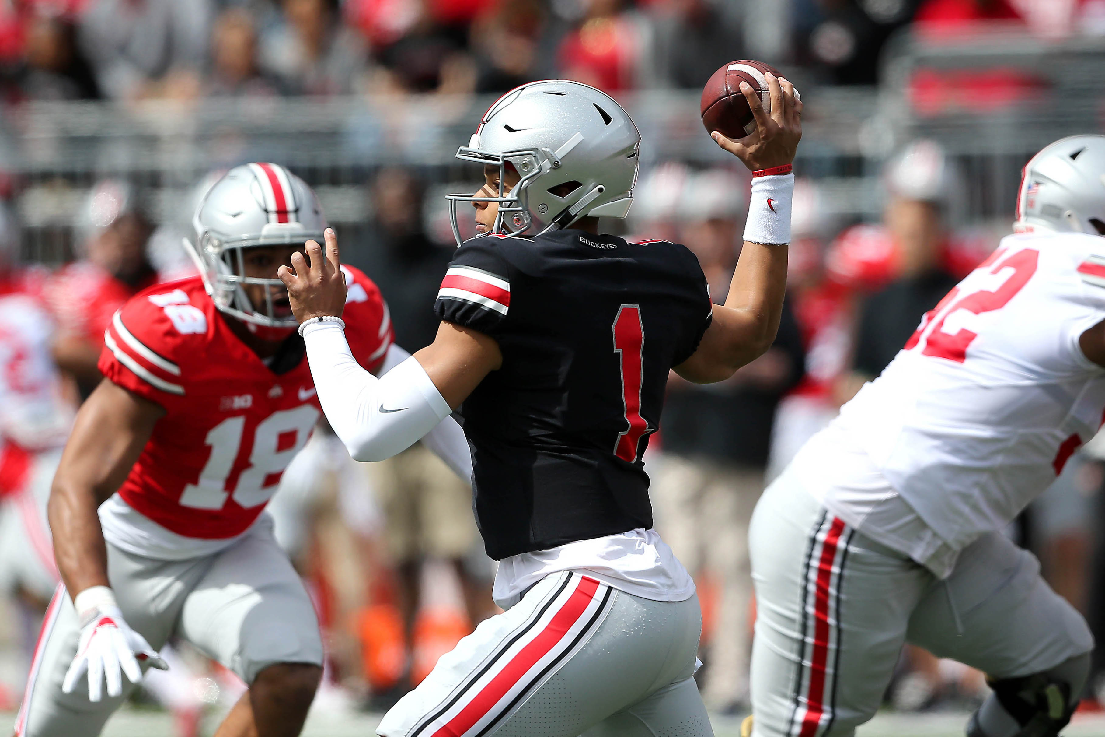 Justin Fields may be a dual-threat QB, but Ryan Day doesn't want him taking many hits on the run
