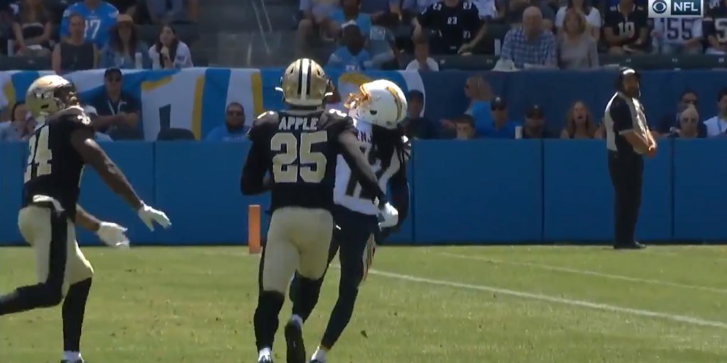 WATCH: Vonn Bell flashes coverage skills with perfectly timed deflection