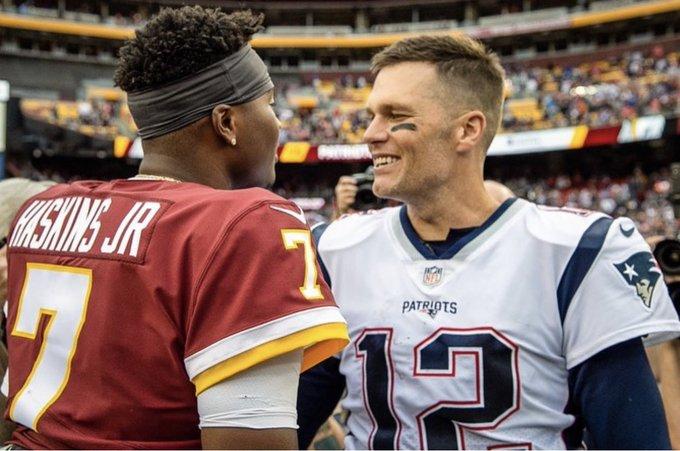 Dwayne Haskins responds to Tom Brady talking to him about Michigan-Ohio State
