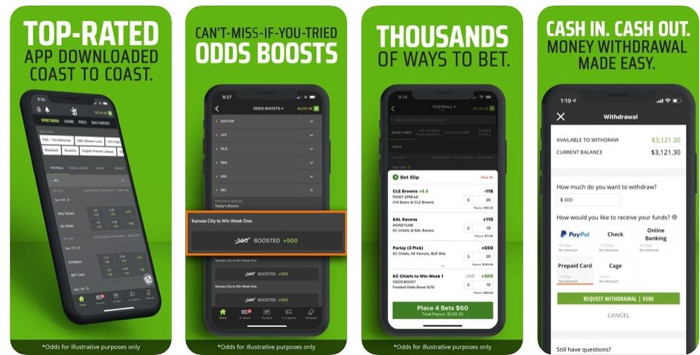 DraftKings Sportsbook, App Store